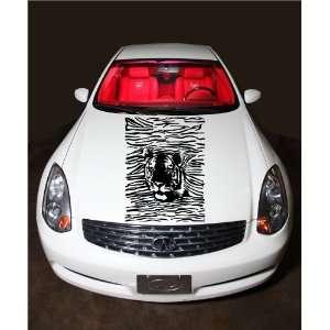 Tiger Head and Stripes Predators Animal Cute Hood Vinyl