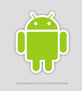 ANDROID DROID GOOGLE OS ROBOT DECAL STICKER   4 tall