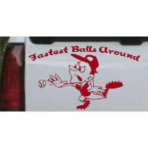 Fastest Balls Around Baseball Sports Car Window Wall Laptop Decal