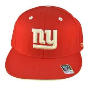 NFL NEW YORK GIANTS FLEX FIT RED HAT CAP FLAT BILL RBK