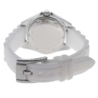 NEW* Fossil Womens Riley White Silicone Analog Crystal Quartz Watch