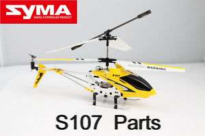 Syma S107 Parts Blades/Tail/Motor/Gear/Battery/Axis
