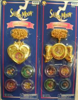 Sailor Moon Medallions Bow + Heart Locket Necklace Game