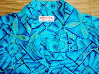 Vintage 60s Rockabilly Tiki Hawaiian Aloha Surf Shirt L
