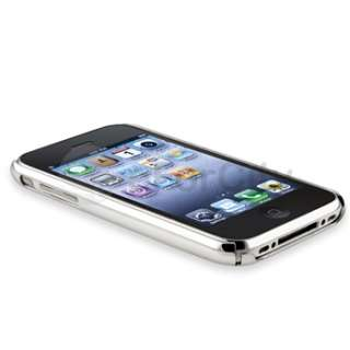 HARD SHELL Case Cover+MIRROR SCREEN PROTECTOR for iPHONE 3G 3GS
