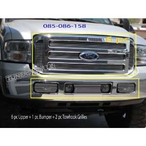 05 07 Ford F250 F550 6pc Upper + 1pc Bumper + 2pc Towhooks