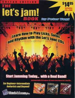 THE LETS JAM How to Play Guitar in a Band BOOK DVD +CD
