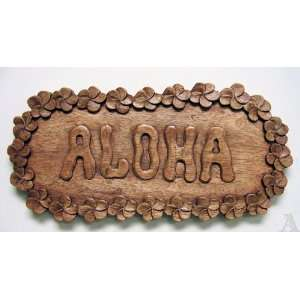 Aloha Hibiscus Flower Wall Art Sign Indoor Outdoor Patio