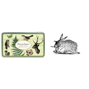 Cavallini Flora and Fauna Assorted Rubber Stamp Set: Arts