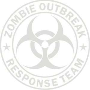 Large Etched Zombie Outbreak Response Team Die Cut Vinyl Decal Sticker
