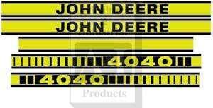JD4040TP John Deere Tractor Hood Decal Set 4040