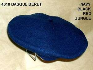 Basque Style Lined Wool Beret Cap Hat Model #4010