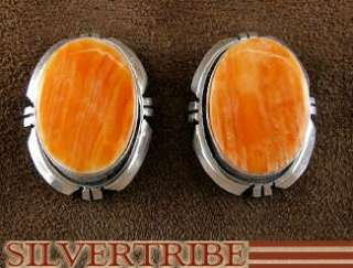 Navajo Indian Oyster Shell Silver Post Earrings Jewelry