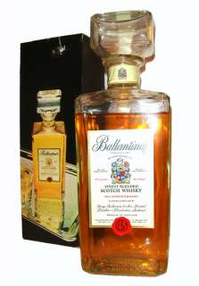 Ballantines Scotch Whisky Vintage Decanter Fifth   OLD & RARE