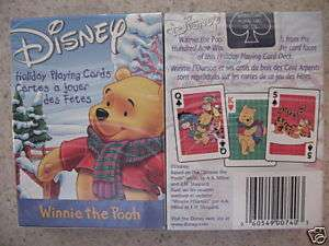Christmas Winnie the Pooh Playing Cards, Tigger and Poohs friends