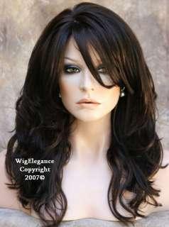 LONG WAVY Brand New Style Trendy Dark Brown Wig H BD