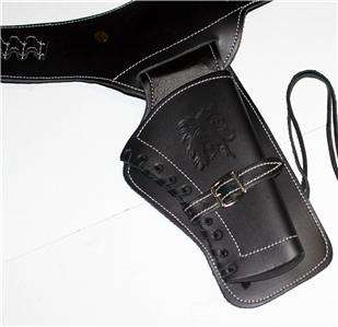 WESTERN COWBOY Old West Pistol Gun BLACK BELT HOLSTER
