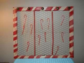 Old Window Frame Christmas Candy Cane Art **SALE**Half