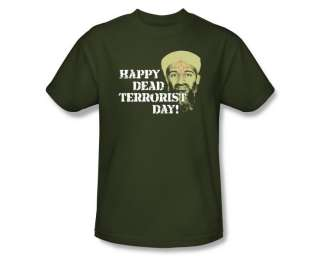 Osama Bin Laden Death Dead Terrorist Day T Shirt Tee