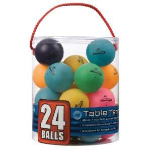 Tub of Table Tennis Balls, 1 Star (Multi Color)