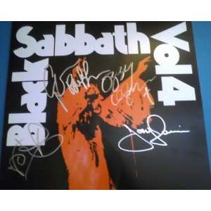 Autographed Black Sabbath Vol. 4 Record Album Lp Hand Signed By All