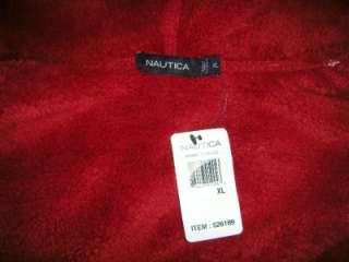 NWT NAUTICA Mens Full Zip Fleece Hoodie Sherpa Lined Jacket MEDIUM