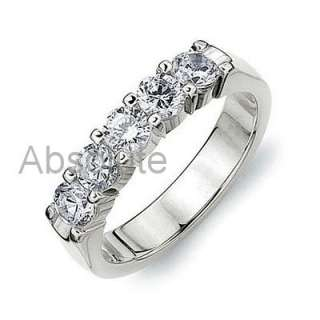 50CT VS/HI ROUND DIAMOND 5 STONE RING 18K WHGOLD