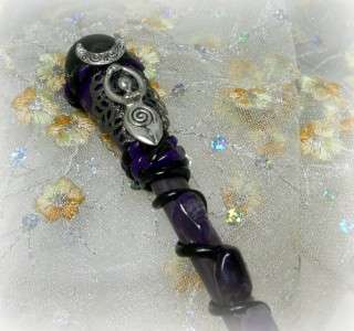 Moon Goddess Amethyst magic wand wiccan altar tools, magic.wicca,pagan