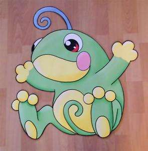 Large POKEMON POLITOED Frog Wall paper Mural Cute Cute