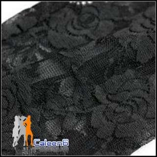 Rose Lace Stockings Fashion Leggings Pants Black D732