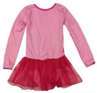 New Disney Snow White Girls Fairy Ballet Dance Loetard Costume Dress