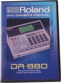 Roland DR 880 DVD Video Manual (DR880 DVD Owners Manual)