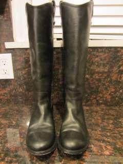 Frye Melissa Button Riding Boot Black Size 71/2 Retails $327.95