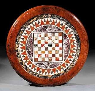 Antique American Renaissance Carved & Burl Walnut Center Table