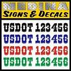 Numbers Semi Truck 2 Vinyl Lettering / Decals US DOT (Western Font