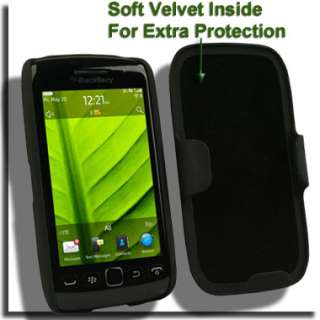 Protector for Blackberry Torch 9850 9860 Holster Cover Black Skin