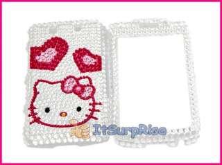 Bling Diamond Silver Kit heart Hard Case Cover for Blackberry 9550