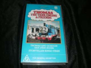 THOMAS THE TANK ENGINE THOMAS AND GORDON VHS VIDEO PAL~ A RARE FIND