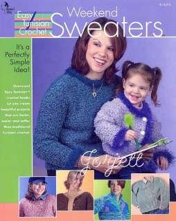 Weekend Sweaters, Annies Easy Tunisian crochet patterns