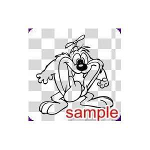 CARTOON BABY TAZ WHITE VINYL DECAL STICKER: Everything
