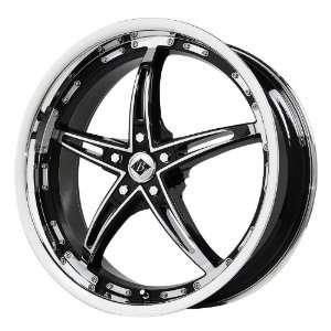 Black Ice Alloys Mayhem Gloss Black Wheel with Chrome Spoke and Lip