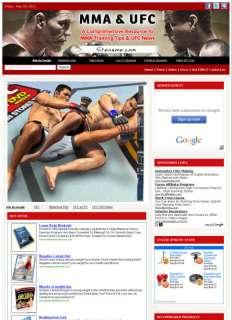 Money Making MMA & UFC Affiliate Website Business sale