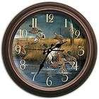 29018 fowl weather ducks reflective art clock by artist hayden