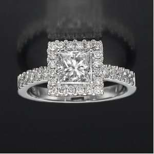 Holyland 2.3 CT VVS REAL DIAMOND ACCENTED PROMISE RING 18K