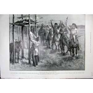 1899 Salute Dead Chief North American Indians Horses Home & Kitchen