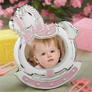 Pink Rocking Horse Photo Frame Baby Shower Favor: Baby