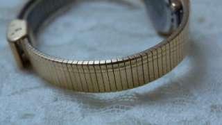 Waltham Diamond Quartz Ladies Watch Gold Gilt Slick Band Elegant