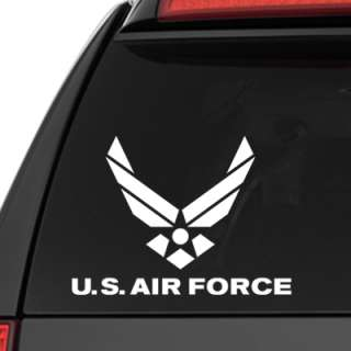 US Air Force Decal   USAF Wings Sticker   Military
