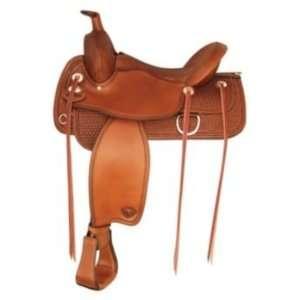 Tex Tan Benton Flex Western Trail Saddle 16In Peca Pet