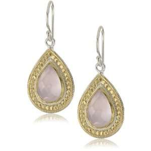 Anna Beck Designs Gili Rose Quartz Teardrop Earrings: Jewelry